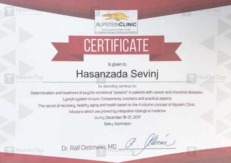 Diplomas and Certificates Sevinc Hasanzada hekimtap.az
