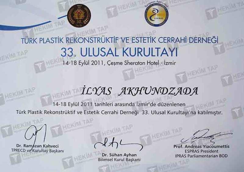 Dimplomlar və sertifikatlar İlyas Axundzadə hekimtap.az