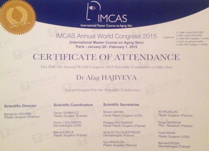 Diplomas and Certificates Afag  Hajiyeva hekimtap.az
