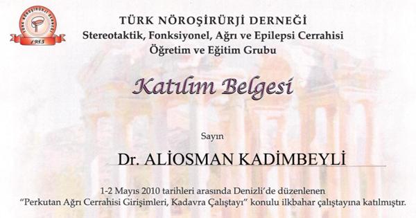 Diplomas and Certificates Aliosman Kadimbeyli hekimtap.az