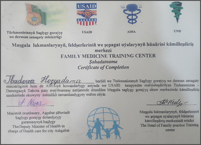 Diplomas and Certificates Xoshqedem  Ibadova hekimtap.az