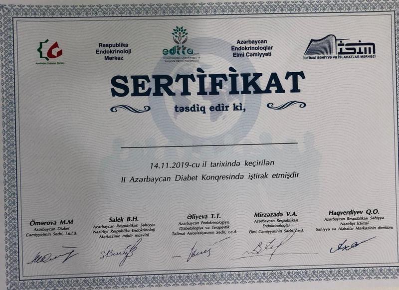Diplomas and Certificates Feride Nesirli hekimtap.az