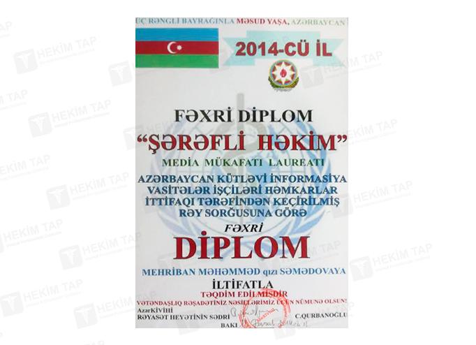Diplomas and Certificates Mehriban  Semedova hekimtap.az