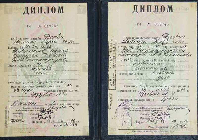 Diplomas and Certificates Mehpare  Rzayeva hekimtap.az