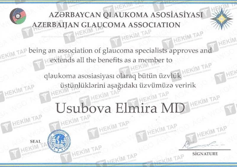 Dimplomlar və sertifikatlar Elmira Yusubova hekimtap.az