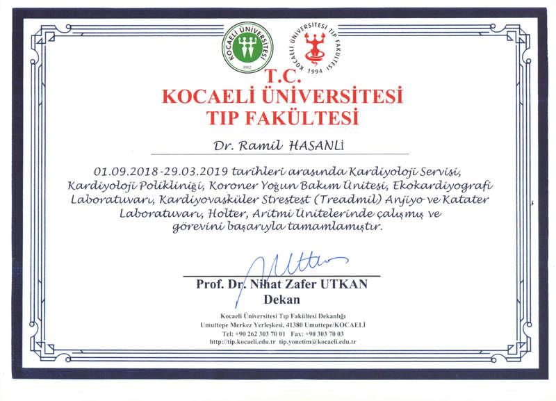 Dimplomlar və sertifikatlar Ramil Həsənli hekimtap.az