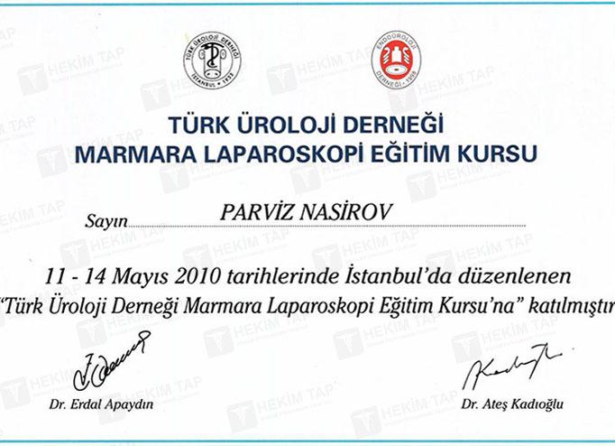 Dimplomlar və sertifikatlar Pərviz Nəsirov  hekimtap.az