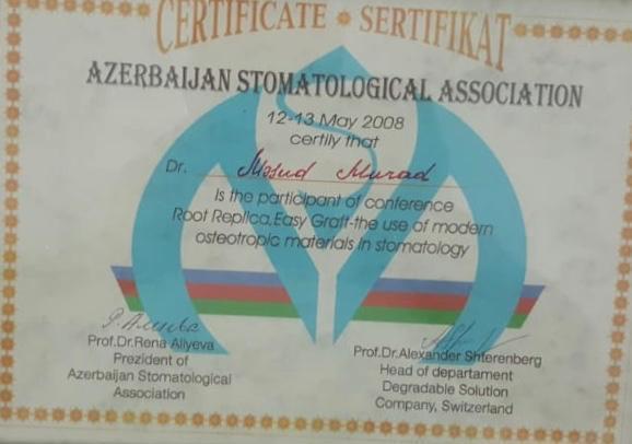 Diplomas and Certificates Mesut Murat hekimtap.az