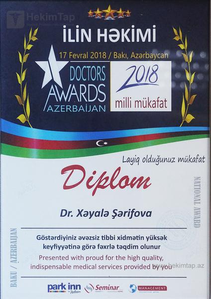 Diplomas and Certificates Khayala  Sharifova hekimtap.az