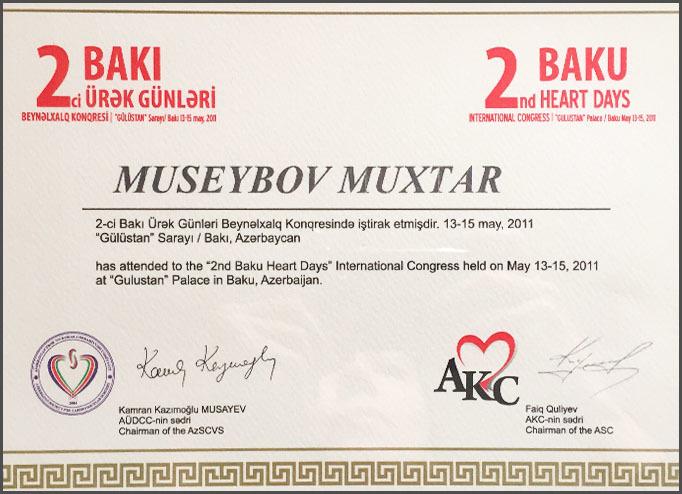 Dimplomlar və sertifikatlar Muxtar Museyibov hekimtap.az