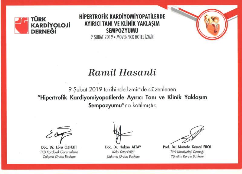 Diplomas and Certificates Ramil Həsənli hekimtap.az