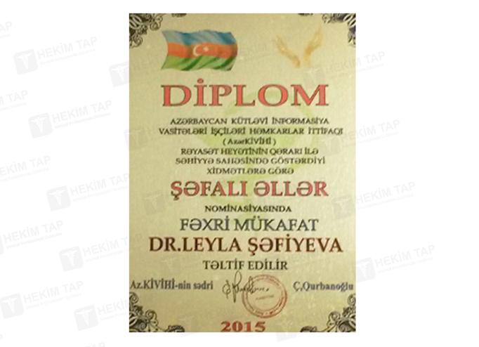 Dimplomlar və sertifikatlar Leyla Səfiyeva hekimtap.az
