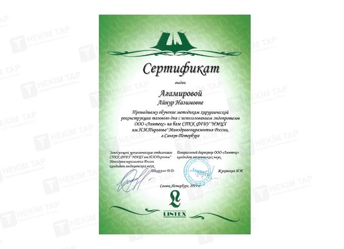 Dimplomlar və sertifikatlar Aynur Hüseynzadə hekimtap.az