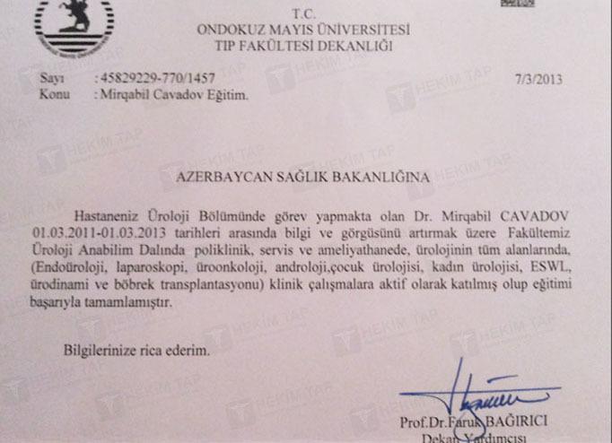 Diplomas and Certificates Mirgabil  Cavadov hekimtap.az