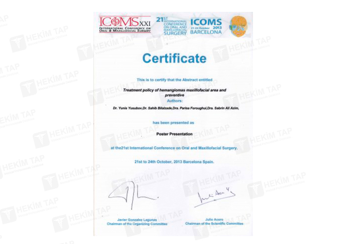 Dimplomlar və sertifikatlar Yunis Yusubov hekimtap.az