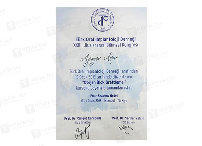 Dimplomlar və sertifikatlar Anar Ağayev hekimtap.az