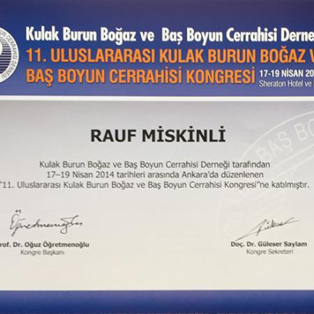Dimplomlar və sertifikatlar Rauf Miskinli hekimtap.az