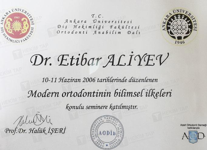 Dimplomlar və sertifikatlar Etibar Əliyev hekimtap.az