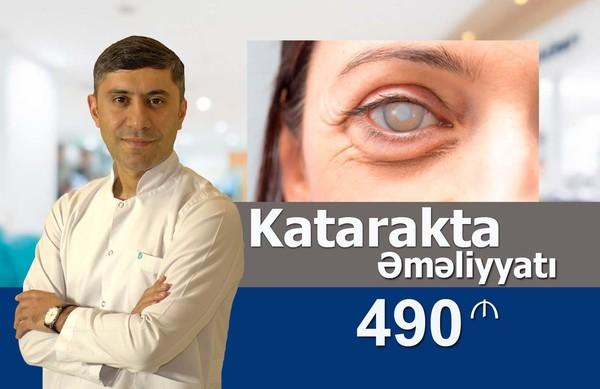 Katarakta əməliyyatı cəmi 490 manat  hekimtap.az
