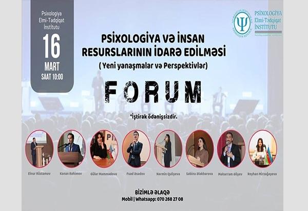 Psixologiya və İnsan Resurslarının İdarə edilməsi Forumu
