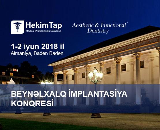 Beynəlxalq implantoloji konqres  hekimtap.az