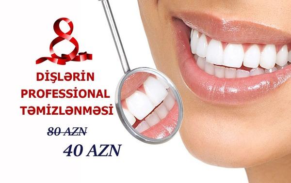 Dişlərin Professional Təmizlənməsi -Cəmi 40 AZN hekimtap.az