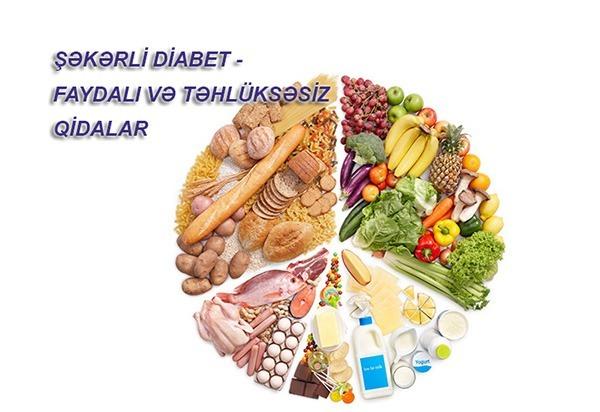 Şəkərli diabet faydalı qidalar
