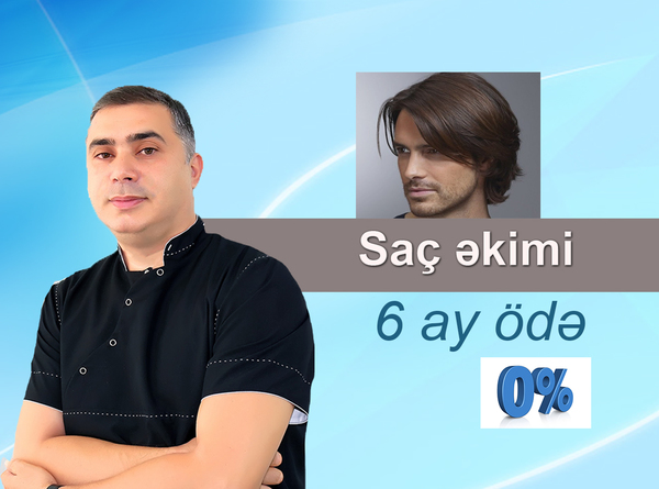 Saç əkimi cəmi 1500 manat  hekimtap.az