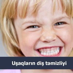 Uşaqların diş təmizliyi  hekimtap.az